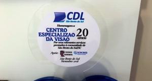 Centro Especializado da Visão recebe homenagem